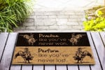 Bull riding - Practice like youve never won Funny Outdoor Indoor Wellcome Doormat