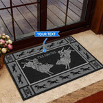 Bull Riding - Black Version Funny Outdoor Indoor Wellcome Doormat