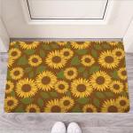Brown Sunflower Print Funny Outdoor Indoor Wellcome Funny Outdoor Indoor Wellcome Doormat