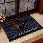 Did you call first Black cat Doormat  Welcome Mat