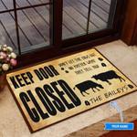 Cow Keep Door Closed Peronalized Funny Outdoor Indoor Wellcome Doormat