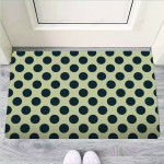 Cream And Black Polka Dot Funny Outdoor Indoor Wellcome Funny Outdoor Indoor Wellcome Doormat