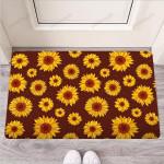 Brown Sunflower Funny Outdoor Indoor Wellcome Funny Outdoor Indoor Wellcome Doormat