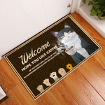 Door Mat Welcome Hope You Like Catfee