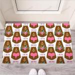 Brown Mama Bear Funny Outdoor Indoor Wellcome Funny Outdoor Indoor Wellcome Doormat