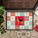 German Shepherd Valentine Doormat Rug For Front Door Inside Valentine Gift For Him Boyfriend