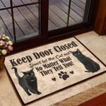 Cats Keep Door Closed - Cat Doormat  Welcome Mat