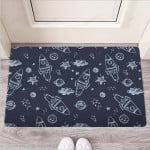 Cartoon Galaxy Space Funny Outdoor Indoor Wellcome Funny Outdoor Indoor Wellcome Doormat