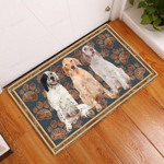 English Setter Flower Paw - Dog Doormat  Welcome Mat