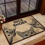 Cat- Nice Shoes All Over Printing Funny Outdoor Indoor Wellcome Doormat