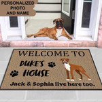 Boxer Dog Funny Outdoor Indoor Wellcome Doormat - Funny Outdoor Indoor Wellcome Doormat
