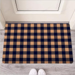 Brown Plaid Funny Outdoor Indoor Wellcome Funny Outdoor Indoor Wellcome Doormat