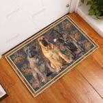 Boerboel Flower Paw - Dog Doormat  Welcome Mat