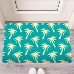 Green Palm Tree Hawaiin Print Funny Outdoor Indoor Wellcome Funny Outdoor Indoor Wellcome Doormat