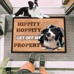 Get Off My Property Border Collie Funny Outdoor Indoor Wellcome Doormat