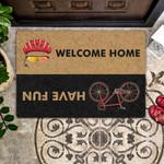Lovers  Door Mat Welcome Home - Have Fun