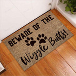 Beware Of The Wiggle Butts Dog Doormat  Welcome Mat
