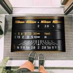 Graphic Nikon Lens Funny Outdoor Indoor Wellcome Doormat