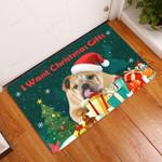 Bulldog Christmas Gifts - Dog Doormat  Welcome Mat  House Warming Gift