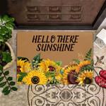Hello Sunshine Doormat Hello There Sunshine Sunflower Doormat Welcome Outdoor Mat