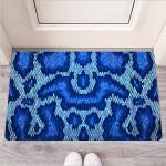 Blue Snakeskin Print Funny Outdoor Indoor Wellcome Funny Outdoor Indoor Wellcome Doormat