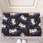 Black Cartoon Cow Print Funny Outdoor Indoor Wellcome Funny Outdoor Indoor Wellcome Doormat