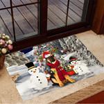 German Shepherd Snowman Christmas Doormat Cute Christmas Door Mat Designs Xmas Home Decor