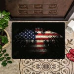 American Flag Doormat Eagle Patriotic Doormat Fourth Of July Home Decor