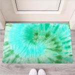 Blue And Green Tie Dye Funny Outdoor Indoor Wellcome Funny Outdoor Indoor Wellcome Doormat