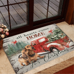 Dachshund Mom All Hearts Come Home For Christmas Doormat Holiday Gifts For Mom Indoor Decor