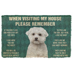 3D Please Remember Maltese Dogs House Rules Doormat