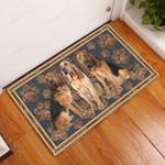 Bloodhound Flower Paw - Dog Doormat  Welcome Mat