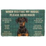 3D Please Remember Doberman Dogs House Rules Doormat