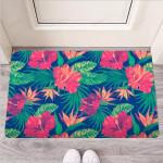 Hibiscus Hawaiian Flower Print Funny Outdoor Indoor Wellcome Funny Outdoor Indoor Wellcome Doormat
