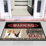 Highly Trained Beagle Dog Funny Outdoor Indoor Wellcome Doormat - Funny Outdoor Indoor Wellcome Doormat