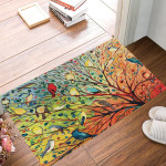 Birds On Tree Spring Doormat Decorative Inside Outside Front Door Mat Gift For Family Idea