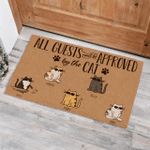 Cool Cat All guests must be approved by the dog personalized Funny Outdoor Indoor Wellcome Doormat