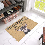 Chihuahua Welcome - People Tolerated Doormat  Welcome Mat