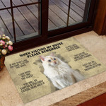 flame point creme cat when visit my house Funny Outdoor Indoor Wellcome Doormat