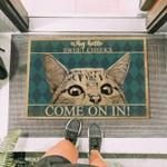 Cat Peeking Funny Outdoor Indoor Wellcome Doormat