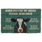 3D Please Remember Calfs House Rule Custom Doormat