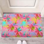 Colorful Palm Tree Hawaiian Print Funny Outdoor Indoor Wellcome Funny Outdoor Indoor Wellcome Doormat