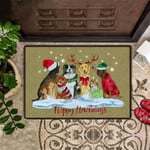 Dog Happy Howlidays Doormat Family Dog Christmas Welcome Door Mat Cute Gift For Dog Owner