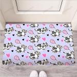 Cow Doodle Print Funny Outdoor Indoor Wellcome Funny Outdoor Indoor Wellcome Doormat