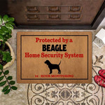 Beagle Protected By Home Security System Doormat Fun Doormat Outdoor For Beagle Lover Owner