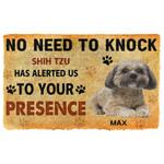 Gearhuman 3D No Need To Knock Shih Tzu Dog Custom Name Doormat