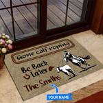 Gone Calf Roping Funny Outdoor Indoor Wellcome Doormat