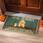 Golden Retriever Beer Funny Outdoor Indoor Wellcome Doormat