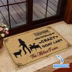 Crazy Goat Lady Funny Outdoor Indoor Wellcome Doormat
