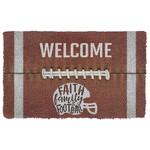 Alohazing 3D Welcome Faith Family Football Doormat